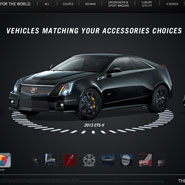 Cadillac Accessories Kiosk Visualizer